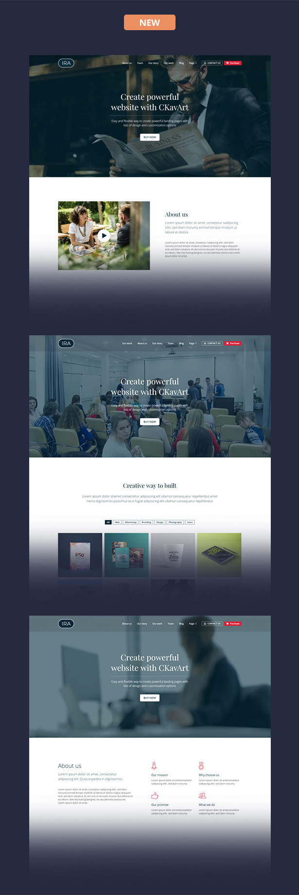 Creative One Page HTML Template - IRA - 1