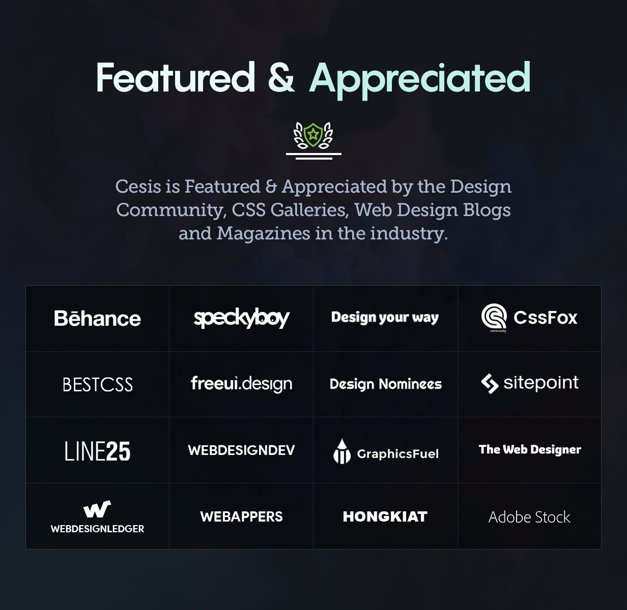 Cesis WordPress - Featured and Appreciated