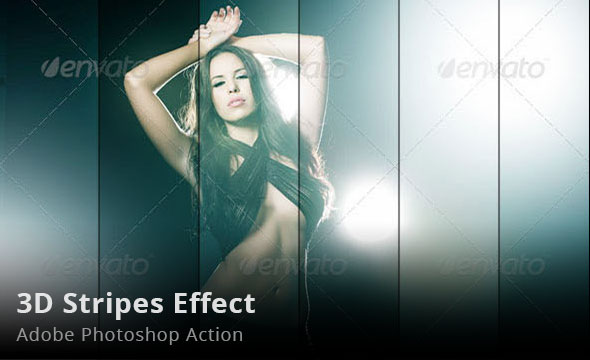 3D stripes Photoshop Action