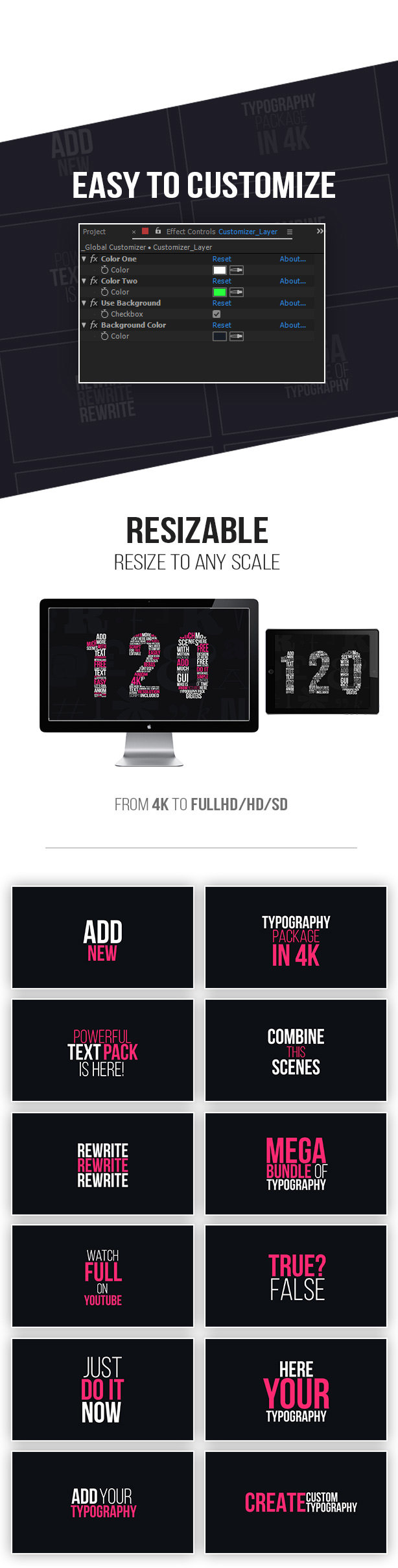 Kinetic Typography 4K Package   Typography Tool - 9