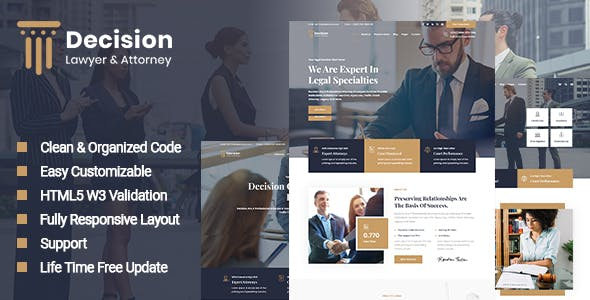 Decision - Lawyer & Attorney HTML Template