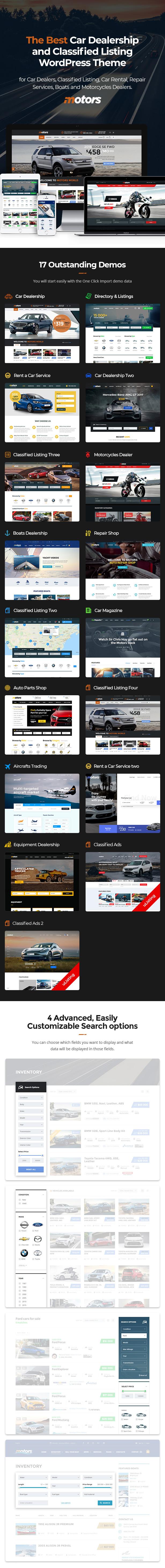 Motors - Revendedor de carros, Aluguel e Classificados tema WordPress - 4