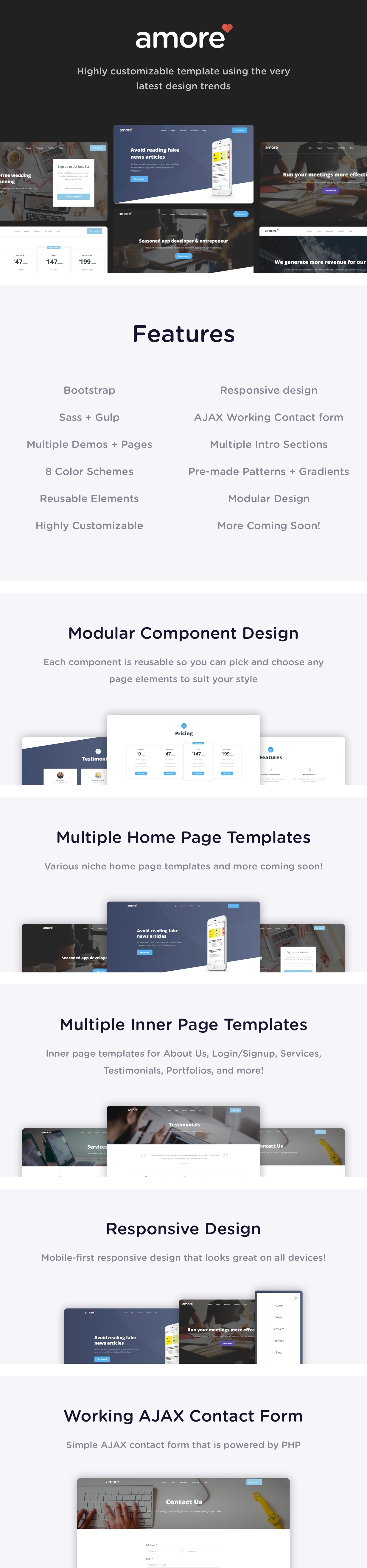 Amore - Highly Modern & Multi-purpose HTML Template - 1