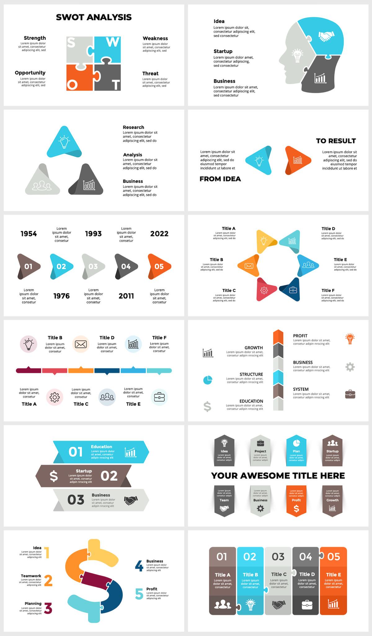 Huge Infographics Bundle! Lifetime Updates! PowerPoint, Photoshop, Illustrator. - 60