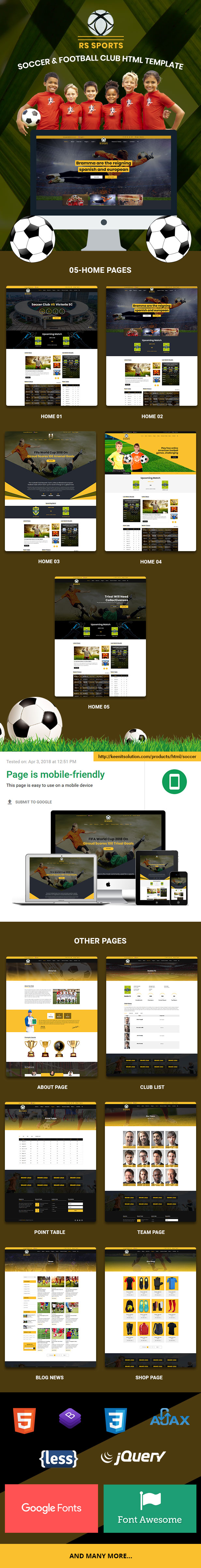 RS Sports - Soccer & Football Club HTML Template