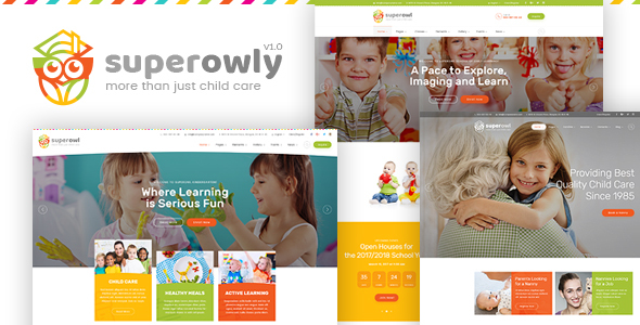 SuperOwly - Kids WordPress Theme