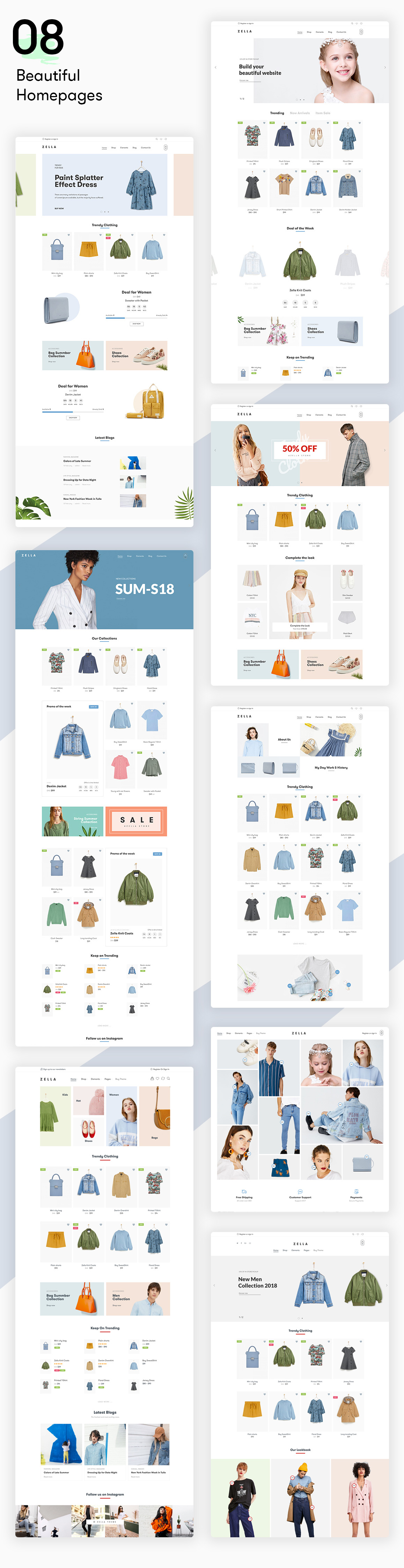 Zella - WooCommerce AJAX WordPress主题 - RTL支持 - 4