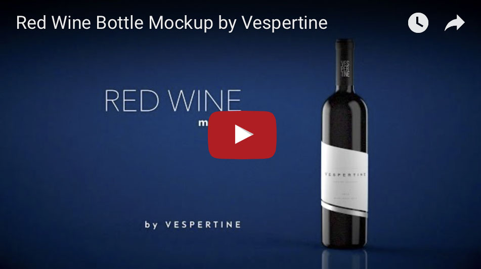 Red Wine Bottle Mock Up - 1