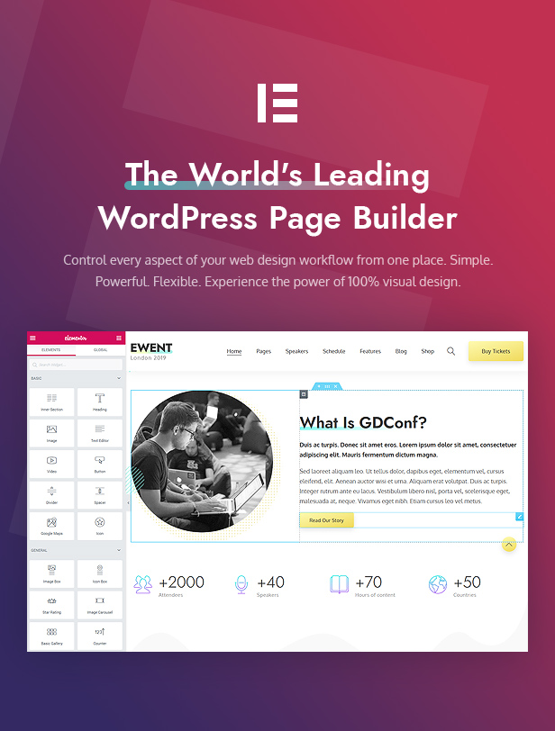 Ewent - Conference & Event Oriented WordPress Theme - 4