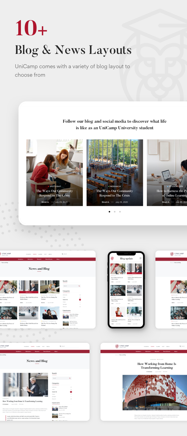 Unicamp - University and College WordPress Theme - 12