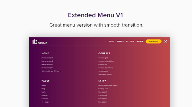 UDEMA - Modern Educational Site Template LMS