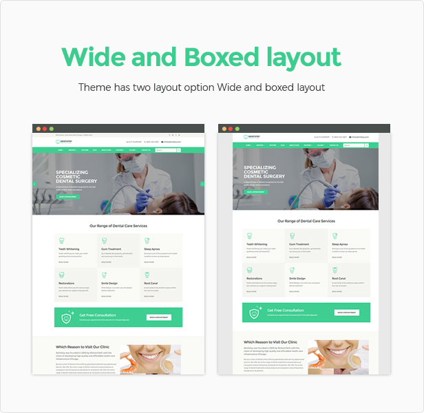 Wide and boxed layout