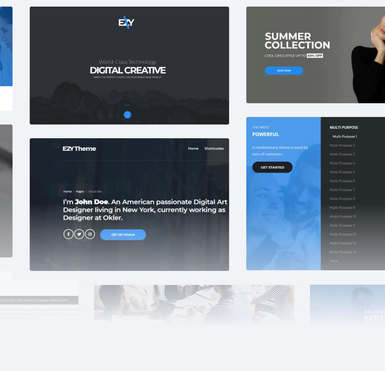 EZY - Responsive Multi-Purpose HTML5 Template Download
