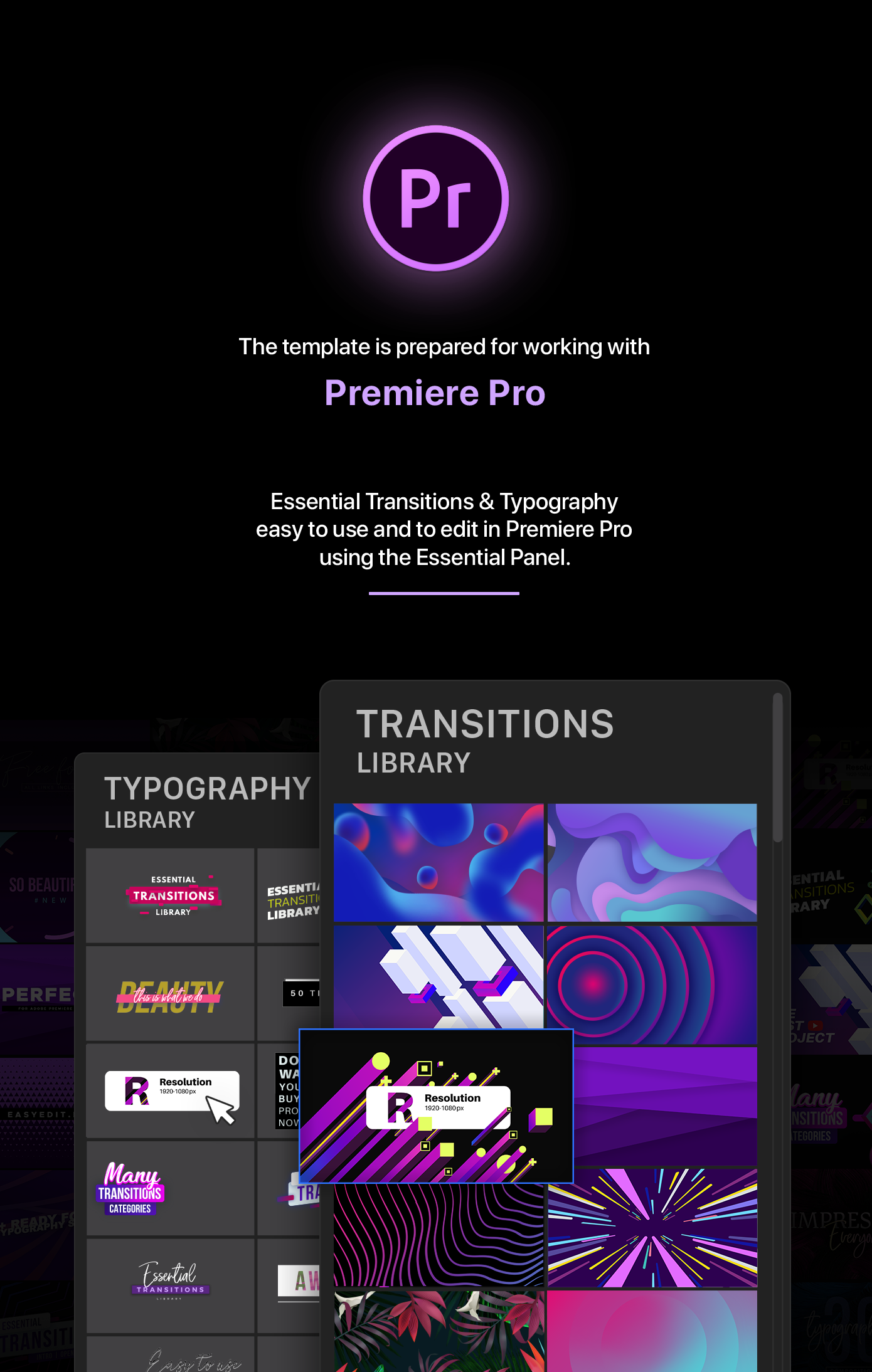 Essential Transitions & Typography   MOGRT - 4