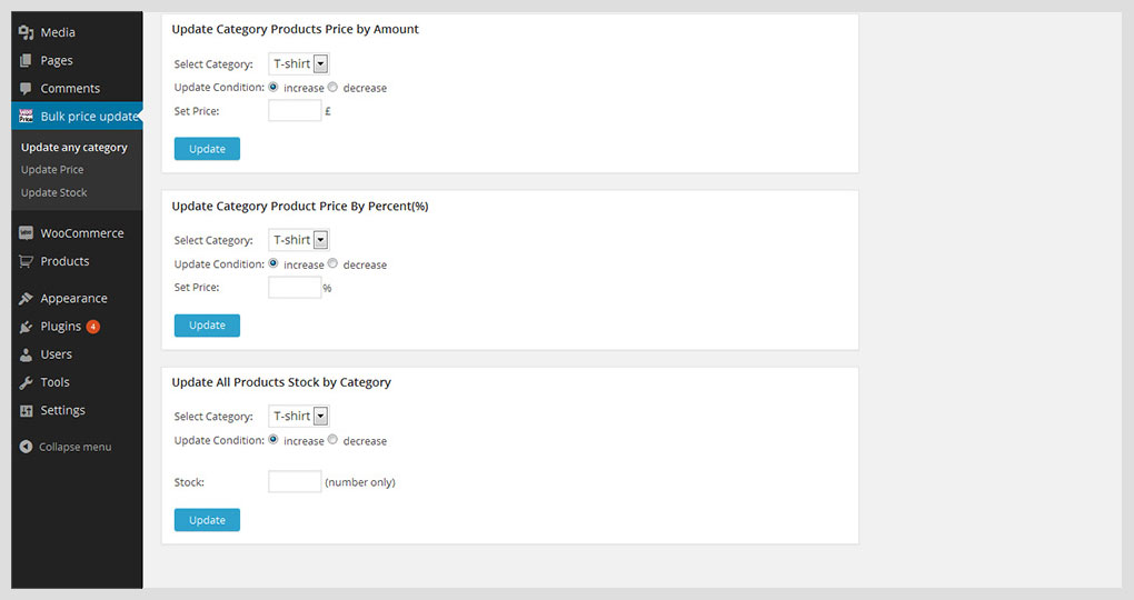 WooCommerce Bulk Price and Stock Quantity Update - 8
