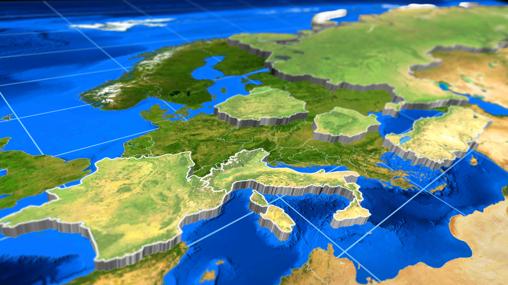 3D Extrude World Map by ShapeShiftersInc VideoHive