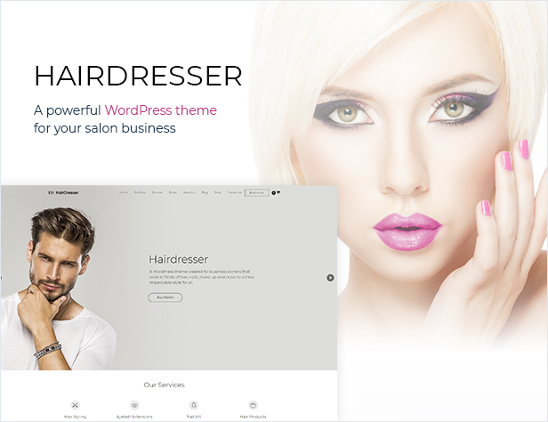 Hairdresser - Hair Salon WordPress theme - 1