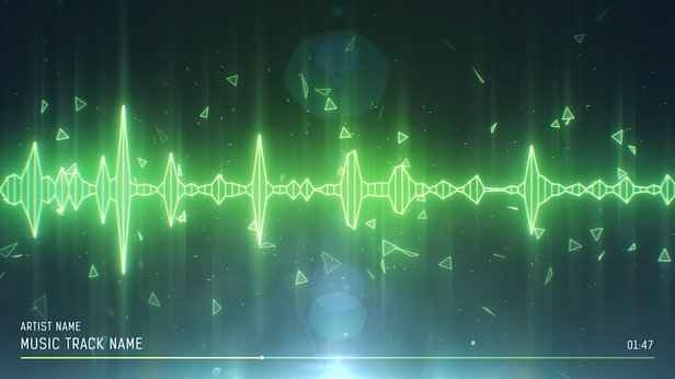SoundVisible Audio Spectrum Visualizer | Linear Spikes Template | Color Preset: Mist