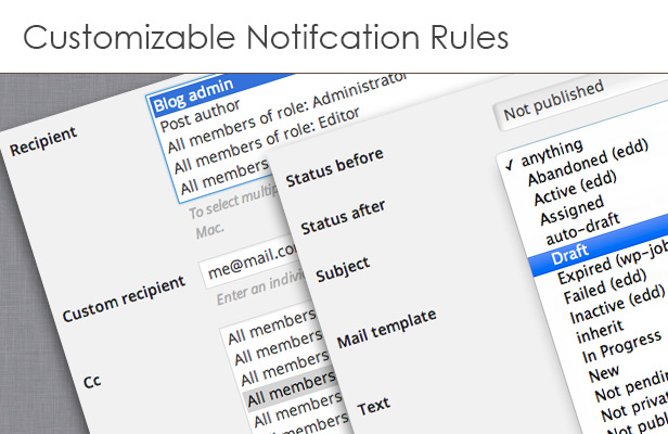 Custom notification rules