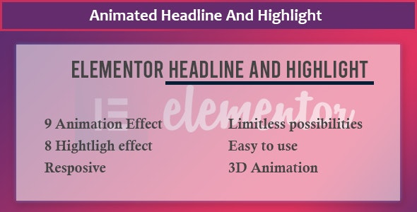 Elementor - Animate Headline And Highlight Extension - CodeCanyon Item for Sale