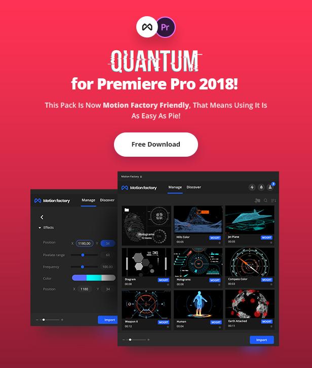 Quantum HUD and HiTech Elements for Premiere Pro - 3