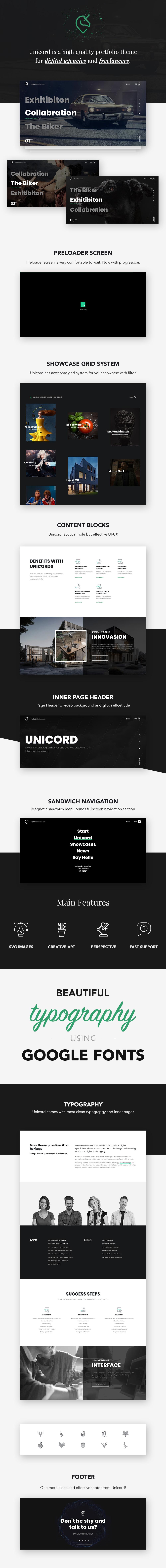 Unicord | Creative Portfolio for Freelancers & Agencies Theme - 1