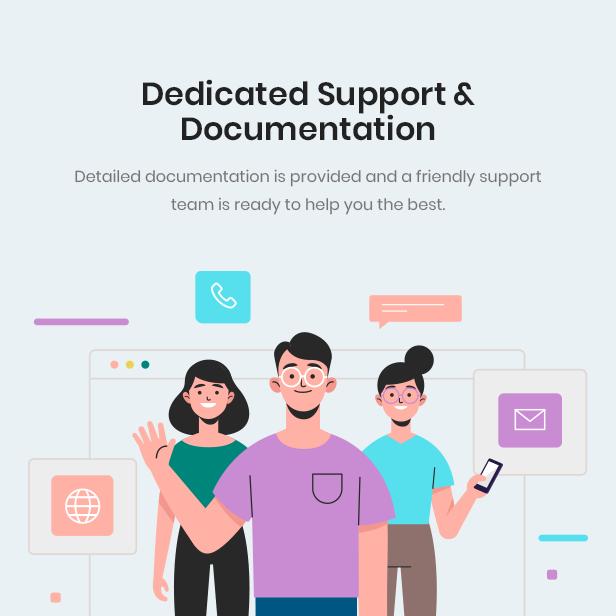 DEDICATED SUPPORT & DOCUMENTATION
