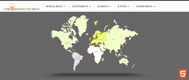 HTML5 Interactive Map Templates