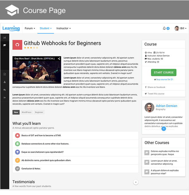 Learning App - Learning Management System Template - 4