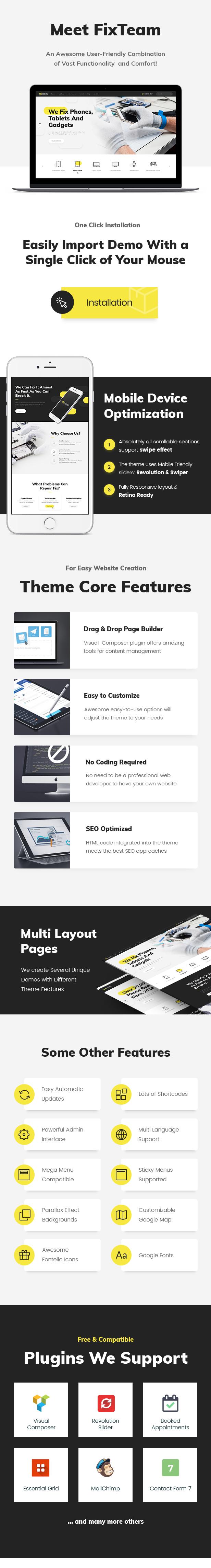 FixTeam | Electronics Repair WordPress Theme - 1