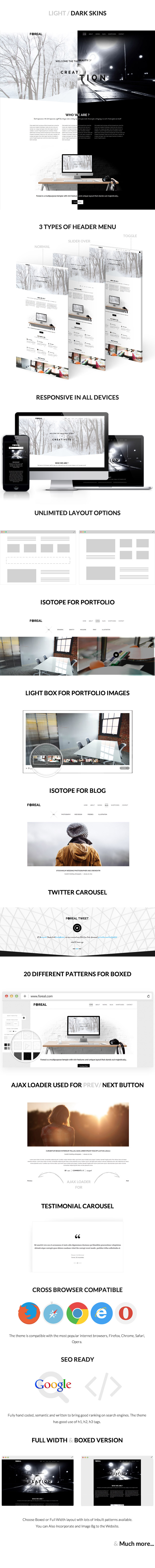 Foreal -  Minimal Business HTML5 Template - 1