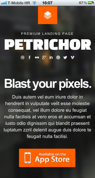 Petrichor on iPhone