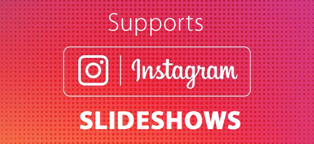 inGallery supports Instagram Sideshows