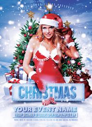 Christmas Party and Event Flyer Template by Design Cloud