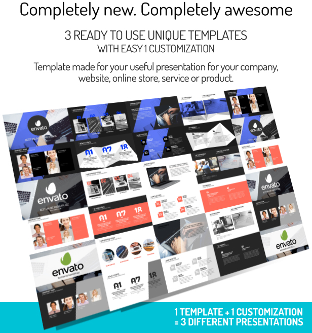 Unique Templates Pack By JBMotion VideoHive - Awesome after effects website template design