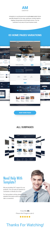 Amlogistic | Transportation & Logistics HTML Template - 2