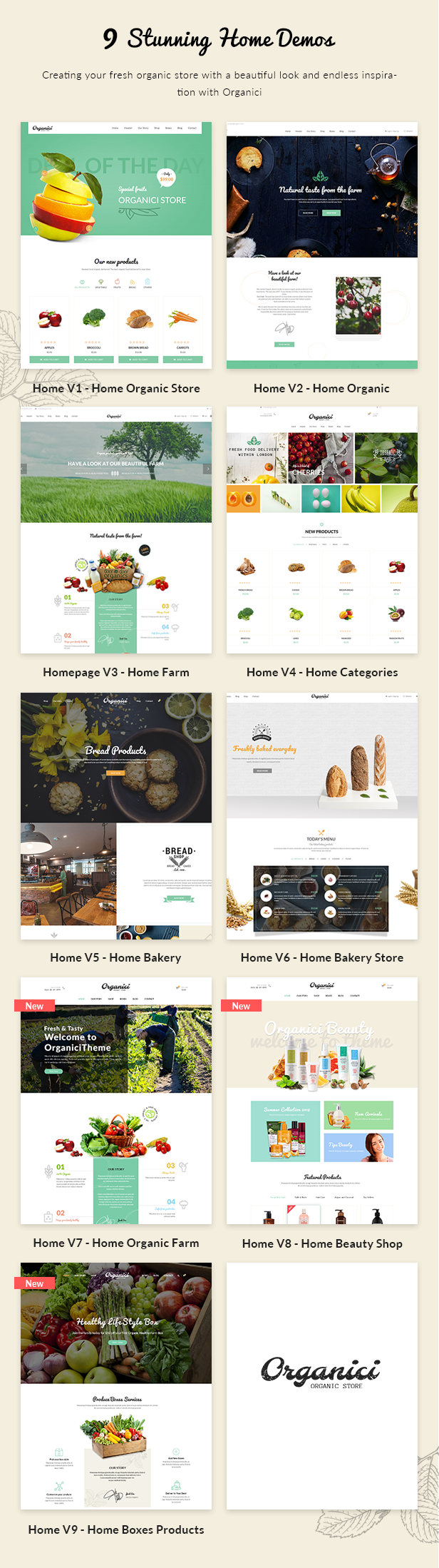 Organici - Organic Store WordPress Theme