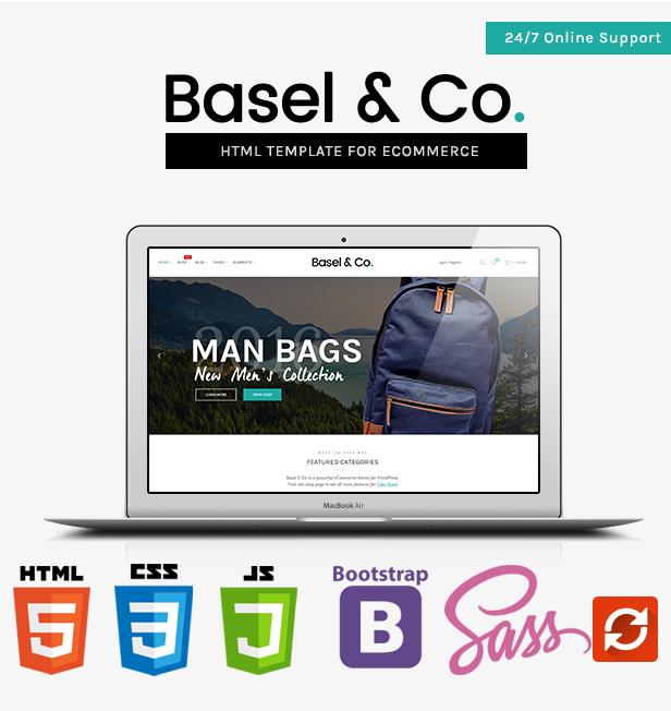 Basel - Multipurpose Ecommerce Bootstrap 4 / SASS HTML Template - 4