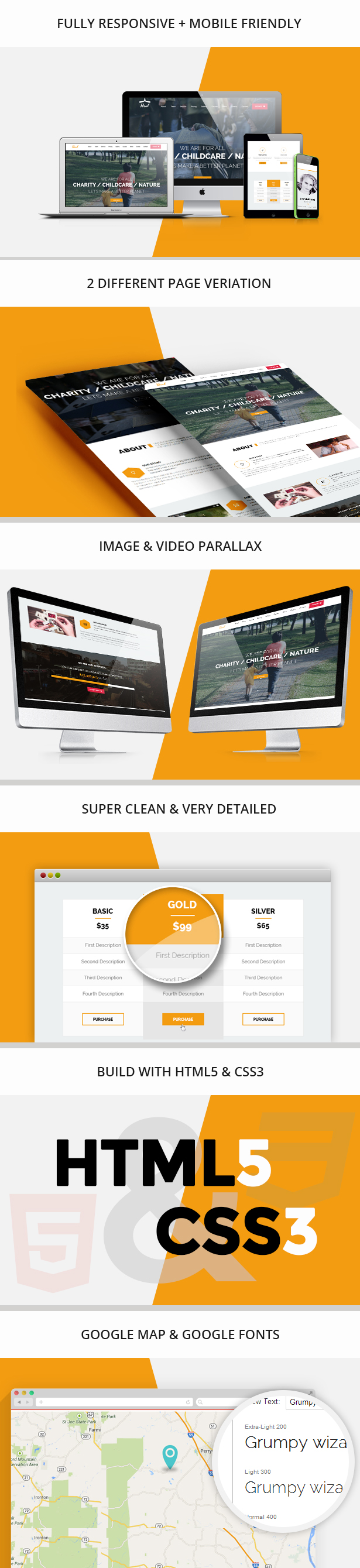 Heal - One Page Charity HTML Template - 1