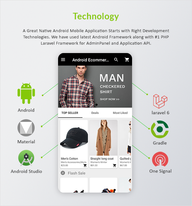 Android Ecommerce - Universal Android Ecommerce / Store Full Mobile App with Laravel CMS - 6
