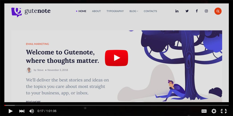 Gutenberg WordPress Creative Blog Theme - Gutenote - 3