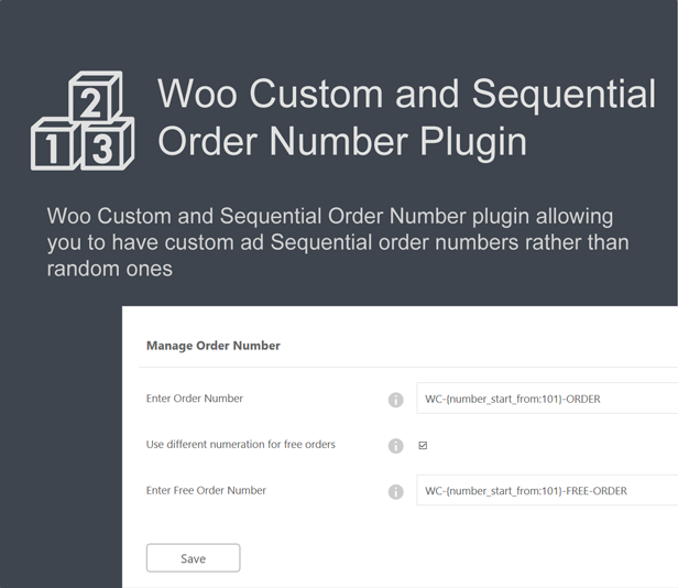 Woo Custom and Sequential Order Number - 2