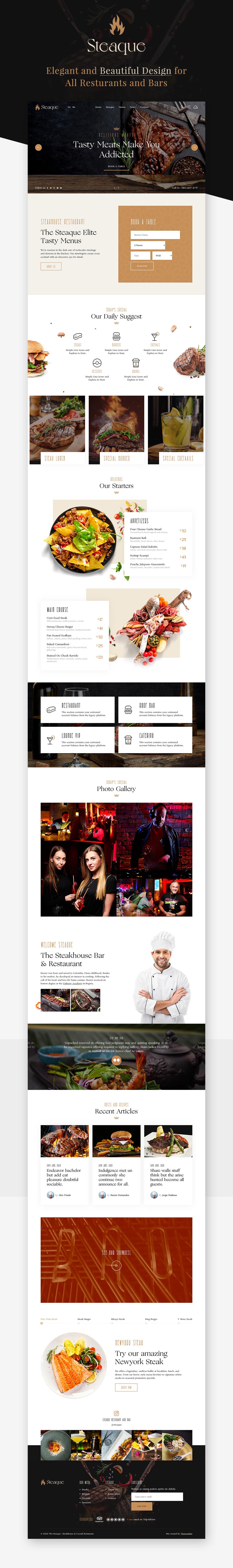 Steaque   Steak House and Coctail Bar WordPress Theme - 1