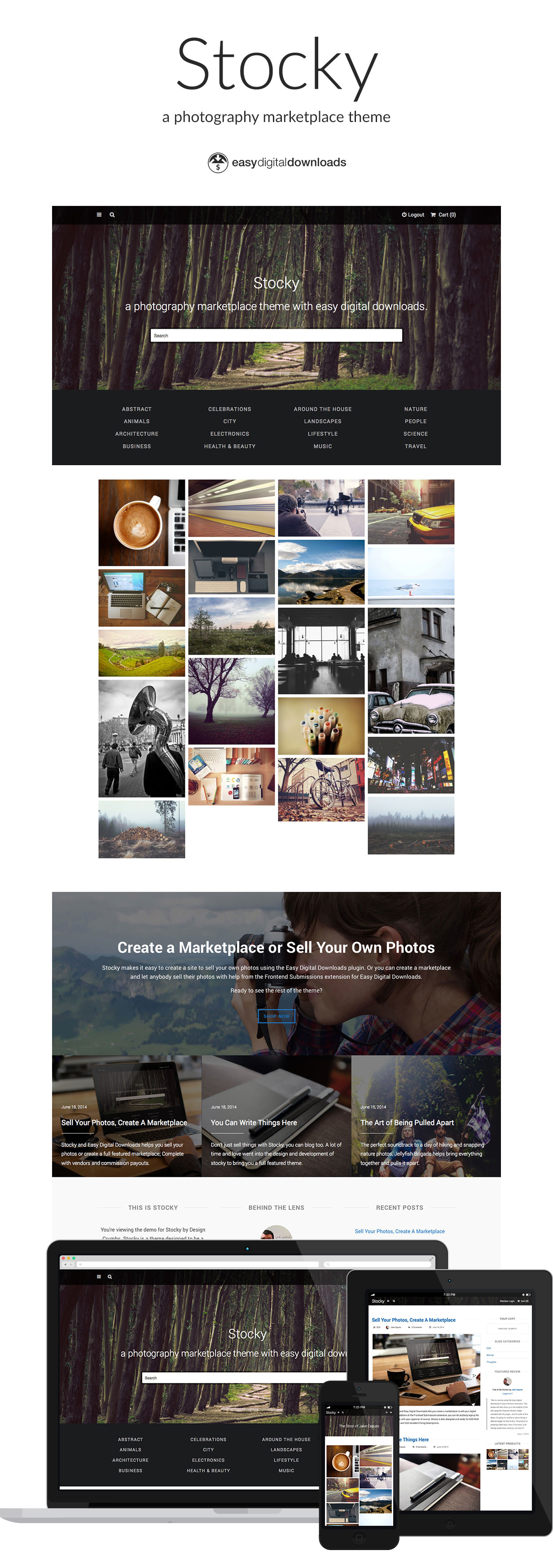 Stocky - Sell Photographs Online with WordPress and Easy Digital Download