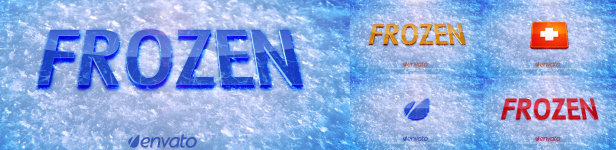 Frozen Ice And Snow Logo Reveal Title After Effects Templates