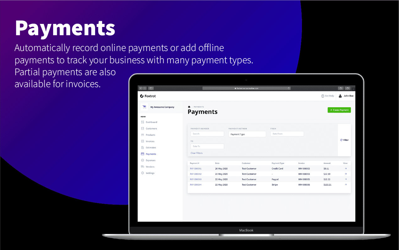 Foxtrot (SaaS) - Customer, Invoice and Expense Management System - 11