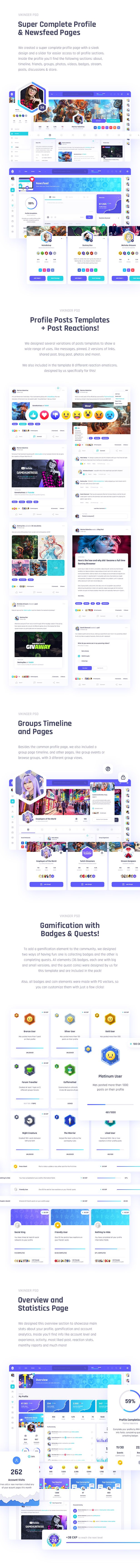 Vikinger - Social Network and Marketplace PSD Template - 11
