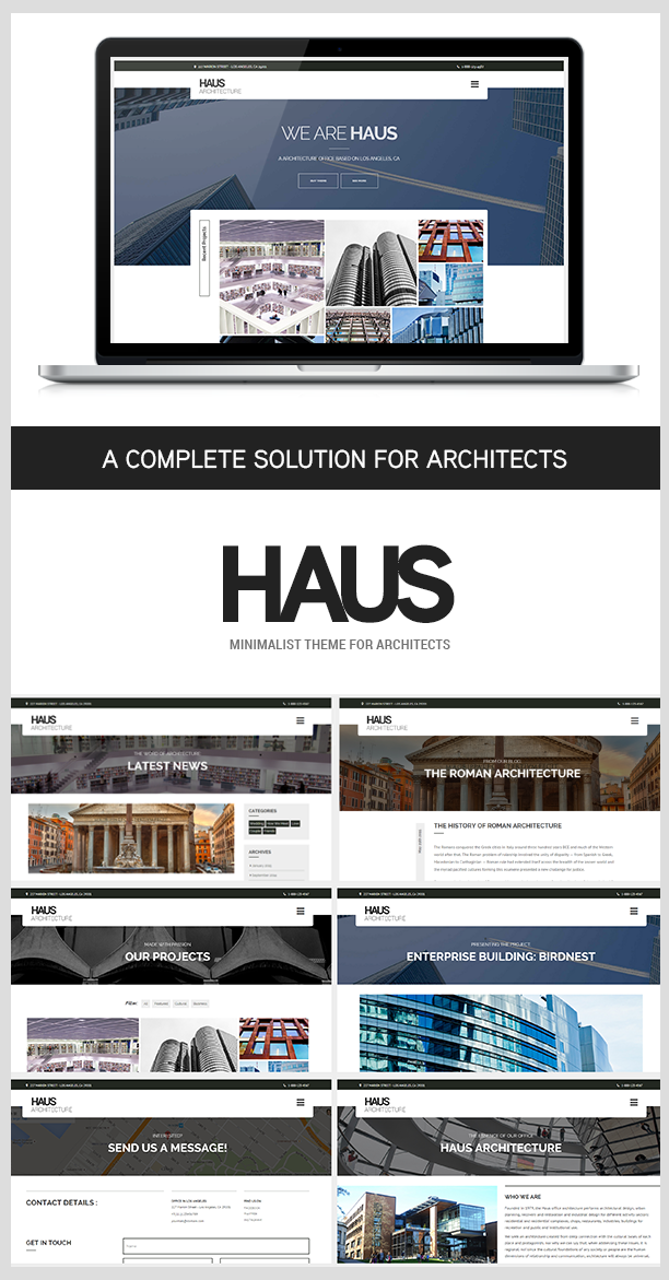 Haus - Architecture Template for Architects - 1