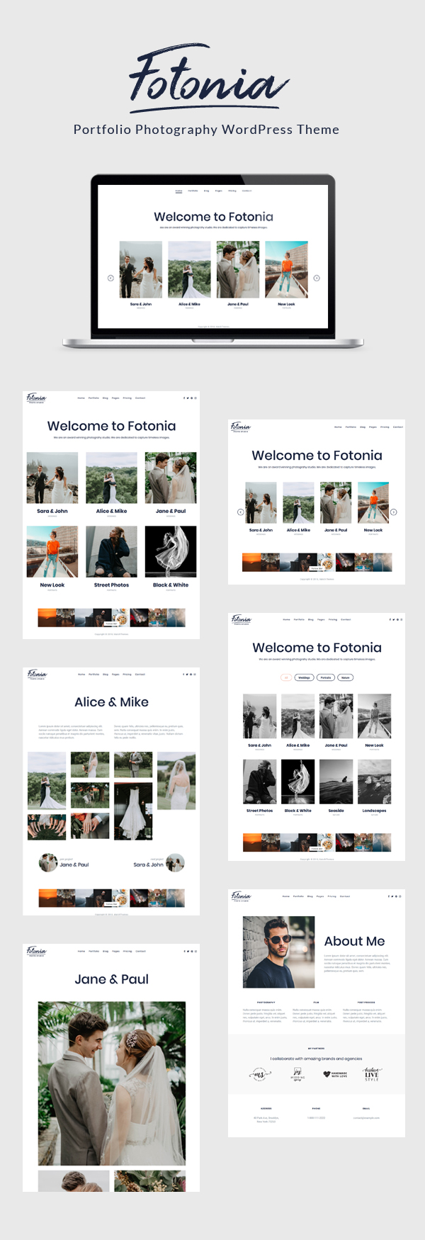 Fotonia - Portfolio Photography Theme for WordPress - 1