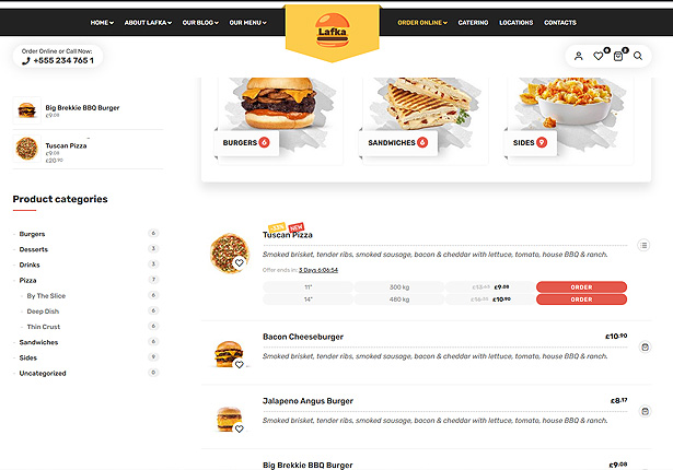 Lafka - WooCommerce Theme for Burger & Pizza Delivery - 3